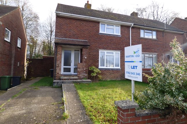 Thumbnail Semi-detached house to rent in Longfield Road, Winnall, Winchester, Hampshire