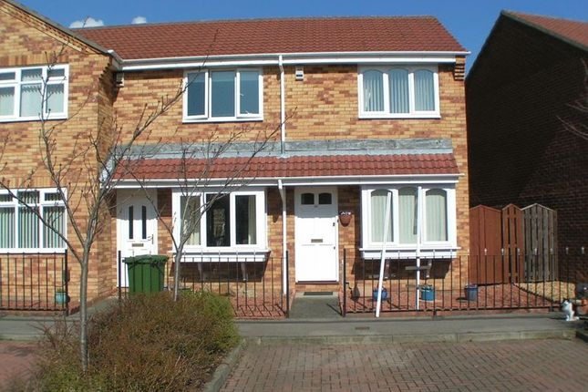 Thumbnail End terrace house to rent in Silvermere Drive, Ryton