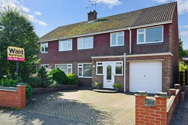 Thumbnail Semi-detached house for sale in Robins Close, Lenham, Maidstone, Kent