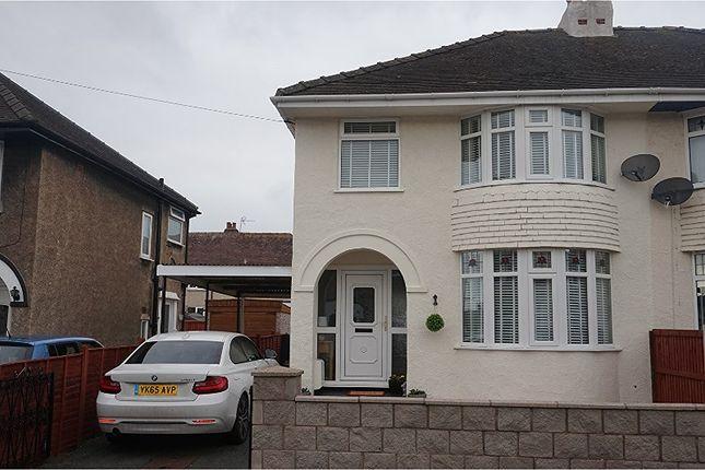 Thumbnail Semi-detached house for sale in Walton Crescent, Llandudno Junction