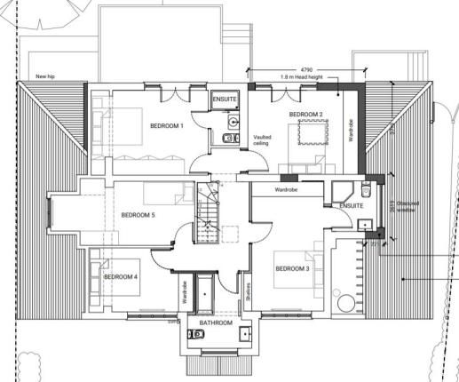 First Floor Plan of Claygate, Esher, Surrey KT10