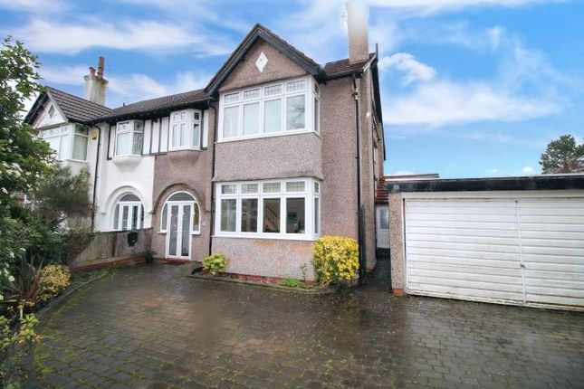 Thumbnail Semi-detached house for sale in College Road North, Crosby, Liverpool