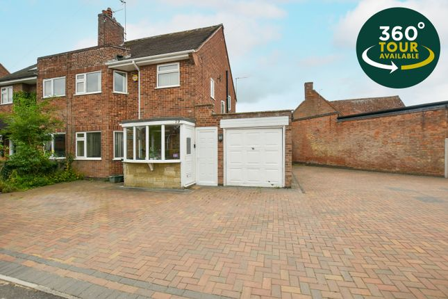 3 bed semi-detached house for sale in Ash Tree Road, Oadby, Leicester LE2