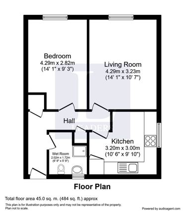 Floor Plan of Highters Close, Maypole, West Midlands B14