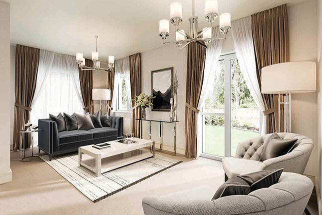 Living Room CGI of Cross Trees Park, Highworth Road, Shrivenham, Cheshire SN6