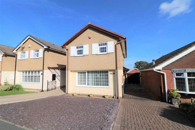 Thumbnail Detached house for sale in Hulme Close, Silverdale, Newcastle