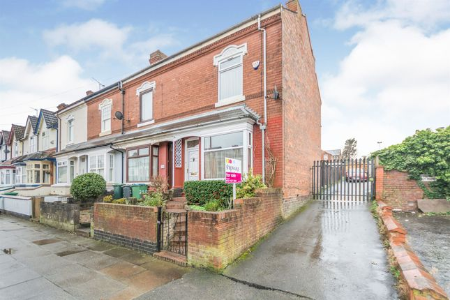 Thumbnail End terrace house for sale in Park Road, Bearwood, Smethwick