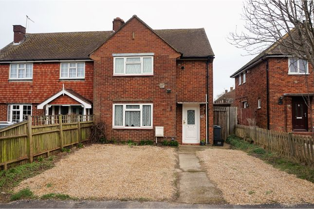 Thumbnail Semi-detached house for sale in The Ridgeway, Horley