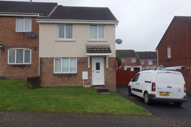 Thumbnail End terrace house to rent in Brynhyfryd, Llangennech, Llanelli