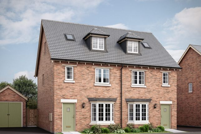 """Thumbnail Semi-detached house for sale in """"The Chisley"""" at Crick Road, Hillmorton, Rugby"""