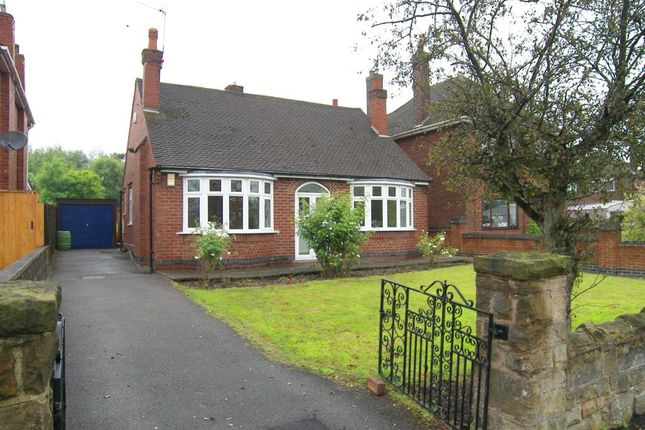 Thumbnail Detached bungalow to rent in Hickton Road, Swanwick, Alfreton