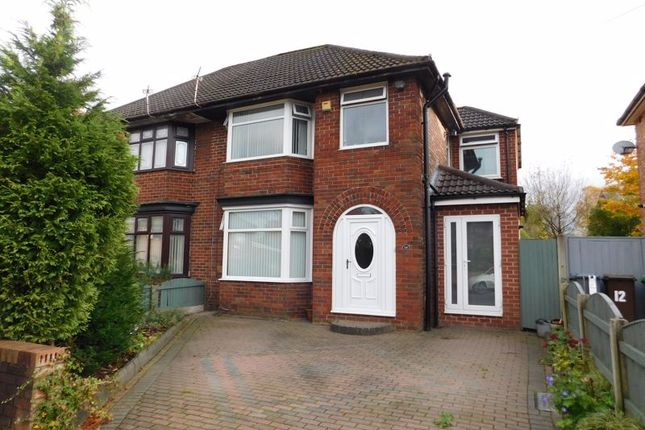 Thumbnail Semi-detached house for sale in Shackliffe Road, Moston, Manchester