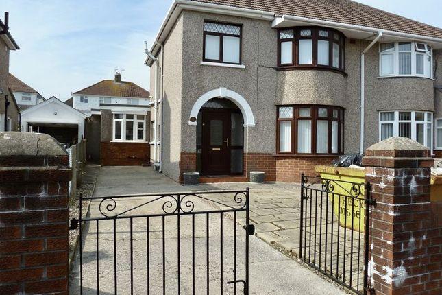 Thumbnail Semi-detached house to rent in Moorlands Road, Bridgend