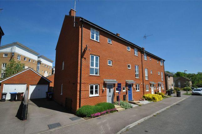 Thumbnail End terrace house for sale in Eddington Crescent, Welwyn Garden City, Hertfordshire