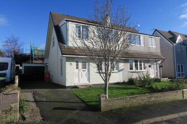 Thumbnail Semi-detached house for sale in 75, Nant Y Felin, Pentraeth