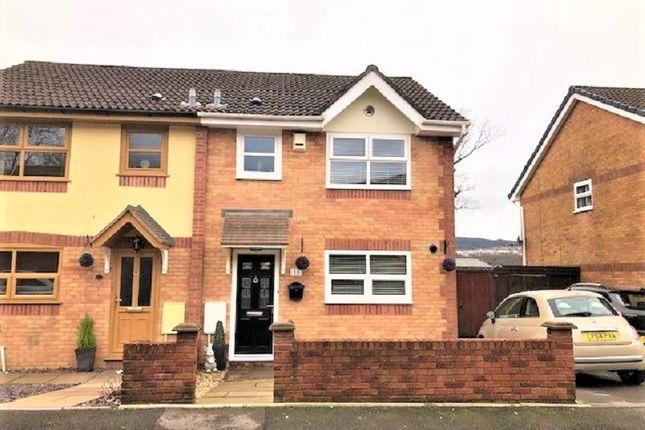 Thumbnail Semi-detached house for sale in Crown Rise, Maesteg, Bridgend.