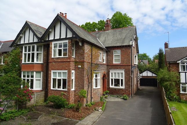 Thumbnail Semi-detached house for sale in Grove Avenue, Wilmslow