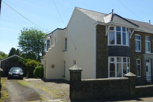 Thumbnail Semi-detached house for sale in Upper Colbren Road, Gwaun Cae Gurwen, Ammanford, Carmarthenshire.