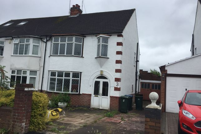 Thumbnail Semi-detached house to rent in Salisbury Avenue, Cheylesmore, Coventry