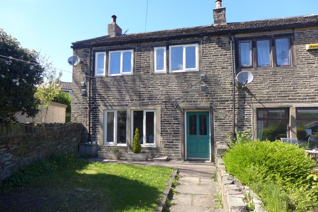 Thumbnail End terrace house for sale in New Hey Road, Outlane, Huddersfield