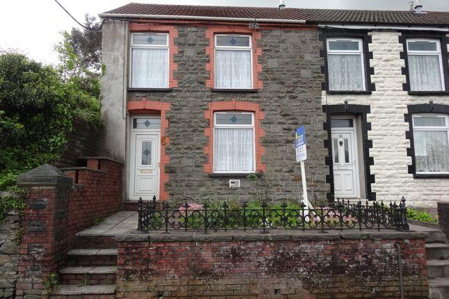 Thumbnail End terrace house to rent in Cilfynydd Road, Cilfynydd, Pontypridd
