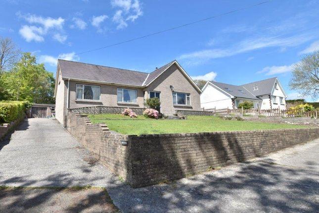 Thumbnail Detached bungalow for sale in Heol Llynyfran, Llandysul, Ceredigion, 4Hp