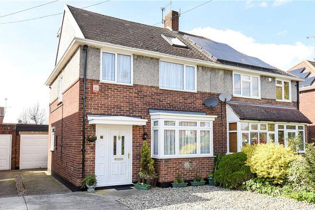 Thumbnail Semi-detached house for sale in Hogarth Avenue, Ashford, Surrey