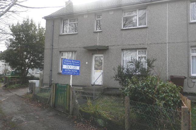 Thumbnail Semi-detached house to rent in Trannack Terrace, Penzance