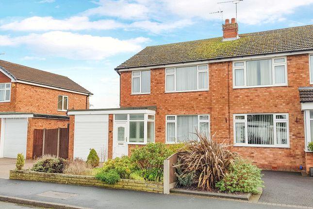 Thumbnail Semi-detached house to rent in Sandringham Drive, Wistaston, Crewe