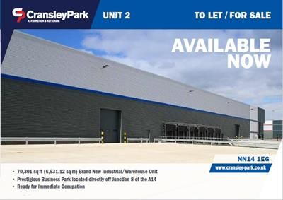 Thumbnail Commercial property for sale in Unit 2, Cransley Park, Kettering, Northants