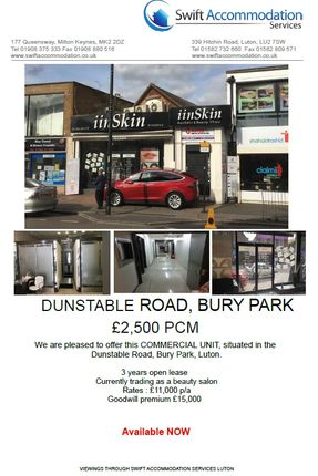 Thumbnail Studio to rent in Dunstable Rd, Luton