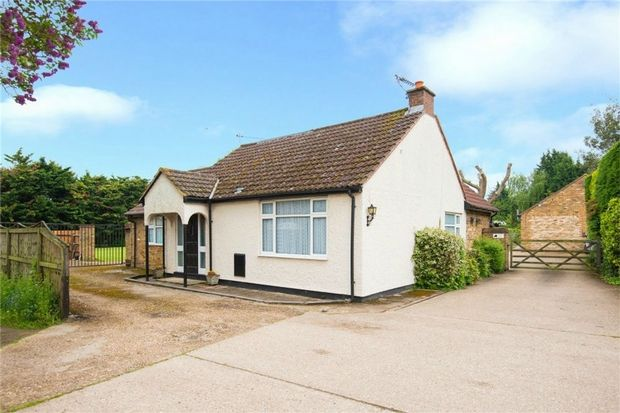 Thumbnail Detached bungalow for sale in 93A Thorney Mill Road, Iver, Buckinghamshire