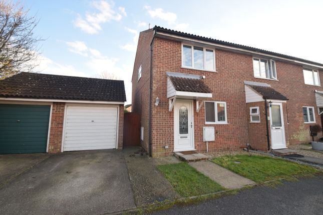 Thumbnail 2 bed end terrace house for sale in Gowers End, Glemsford, Sudbury
