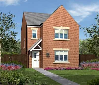 "Thumbnail Detached house for sale in ""The Hatfield"" at Rothbury Drive, Ashington"