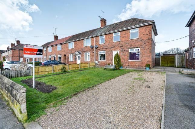 Thumbnail End terrace house for sale in Appleton Road, Blidworth, Nottinghamshire