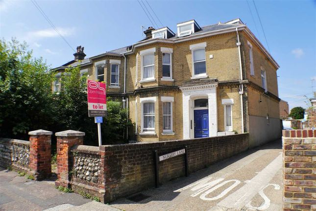 Thumbnail Flat to rent in Byron Road, Worthing