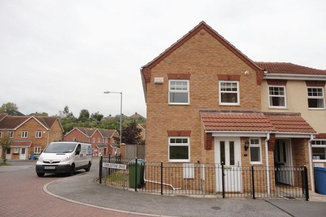 Thumbnail Terraced house to rent in Cobblestone Drive, Mansfield