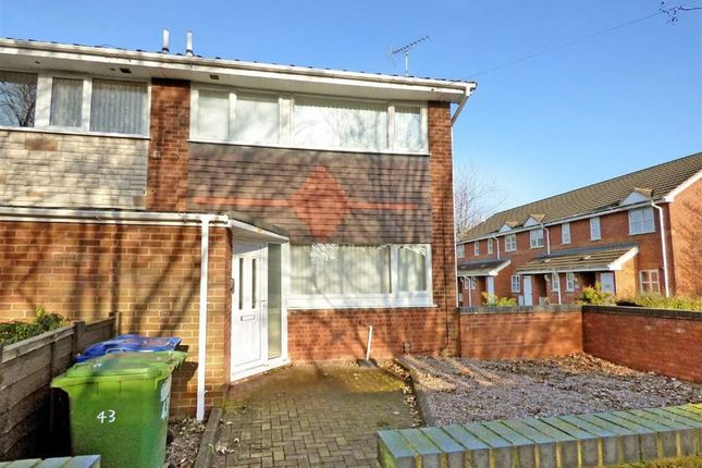 Thumbnail End terrace house for sale in Moss Green, Rugeley, Staffordshire