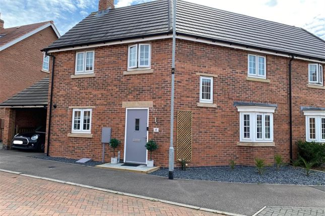 Thumbnail Semi-detached house for sale in Ploughed Way, Kibworth, Leicester