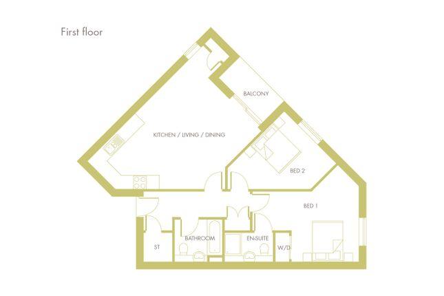 Thumbnail Flat for sale in Fen Street, Brooklands, Milton Keynes