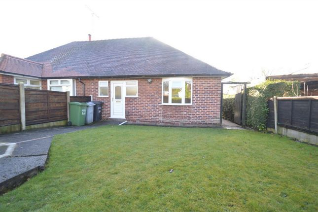 Thumbnail Semi-detached bungalow to rent in Thornton Avenue, Macclesfield, Cheshire