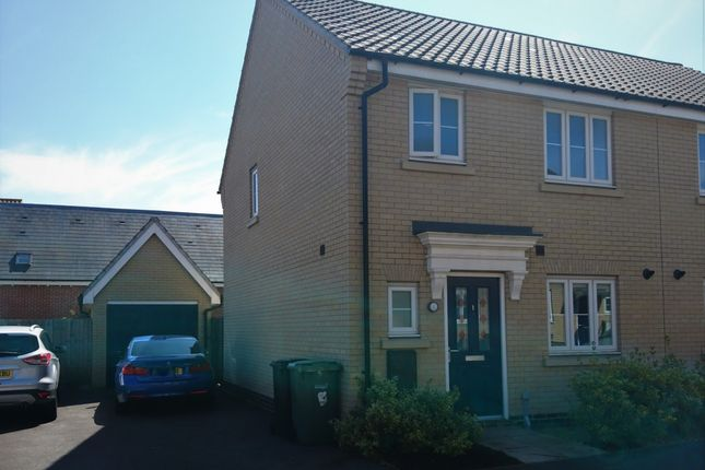 Thumbnail Semi-detached house for sale in Badger Road, Norwich, Norfolk