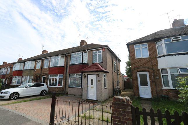 Thumbnail End terrace house to rent in Sutton Court Road, Hillingdon