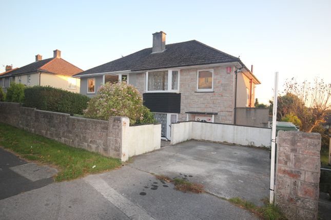 Thumbnail Semi-detached house to rent in Budshead Road, Crownhill, Plymouth