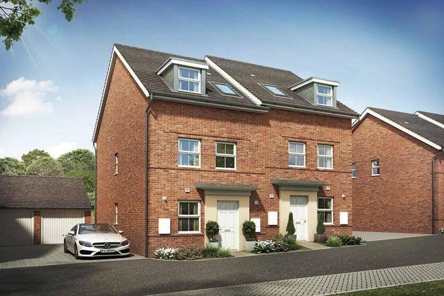 "Thumbnail End terrace house for sale in ""Norbury"" at Briggington, Leighton Buzzard"
