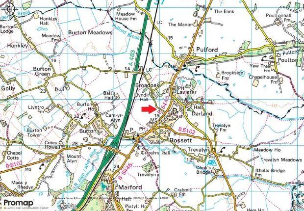 Location Map of Burton, Rossett, Wrexham LL12