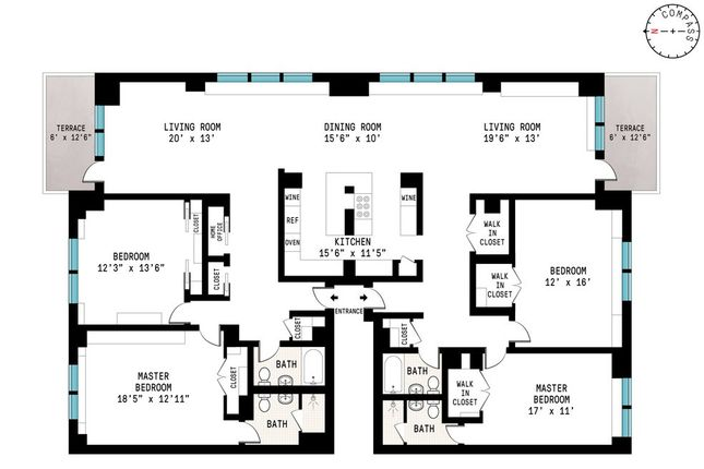 4 bed property for sale in 372 Central Park West, New York, New York State, United States Of America