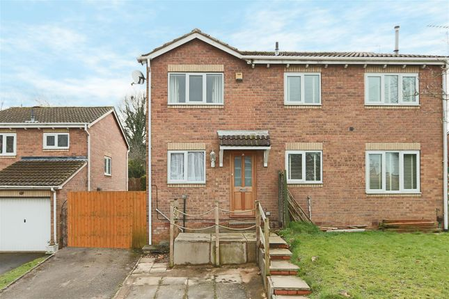 Thumbnail Semi-detached house for sale in Gunn Close, Bulwell, Nottingham