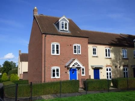 Thumbnail End terrace house to rent in Chivenor Way Kingsway, Quedgeley, Gloucester