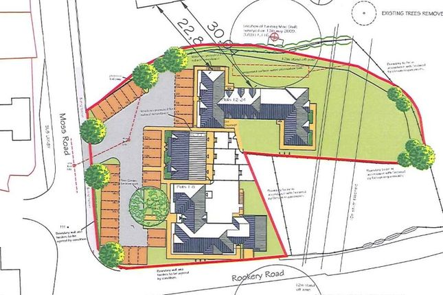 Thumbnail Land for sale in Residential Development Site, Moss Road, Wrockwardine Wood, Telford, Shropshire